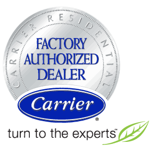We are Carrier Factory Authorized Dealers.