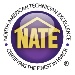 We are NATE certified HVAC technicians
